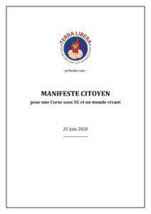 """""""Manifeste Citoyen pour une Corse sans 5G et un monde vivant"""""""