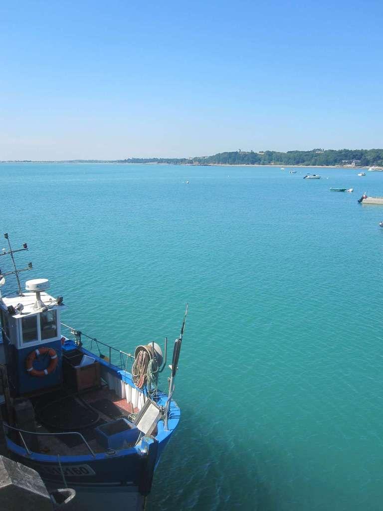 Les Rimains (marée haute et marée basse - Les parcs à huîtres
