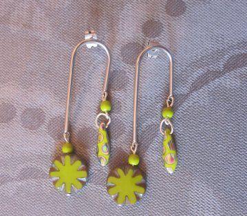 """Boucles d'oreilles """"fleurs"""""""