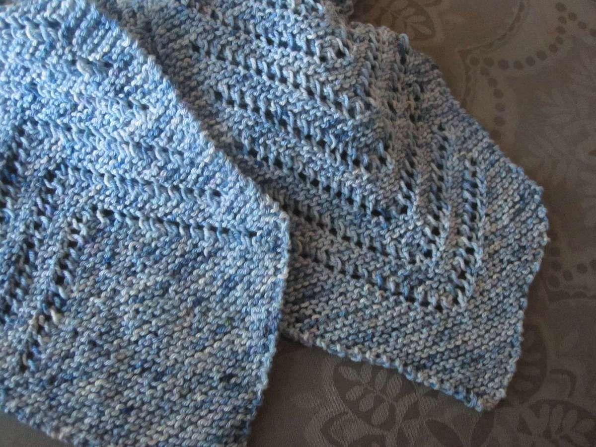 Une écharpe tricotée deux fois...