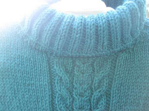 Le pull vert pour l'automne prochain.