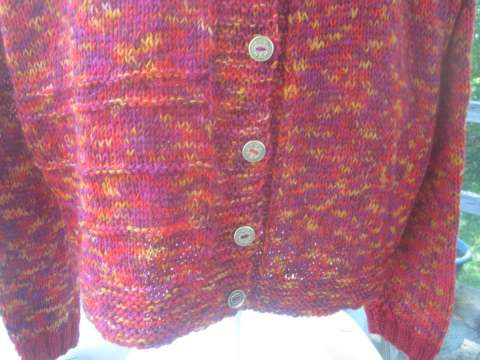Le gilet rouge/rose/orange/violet (2)