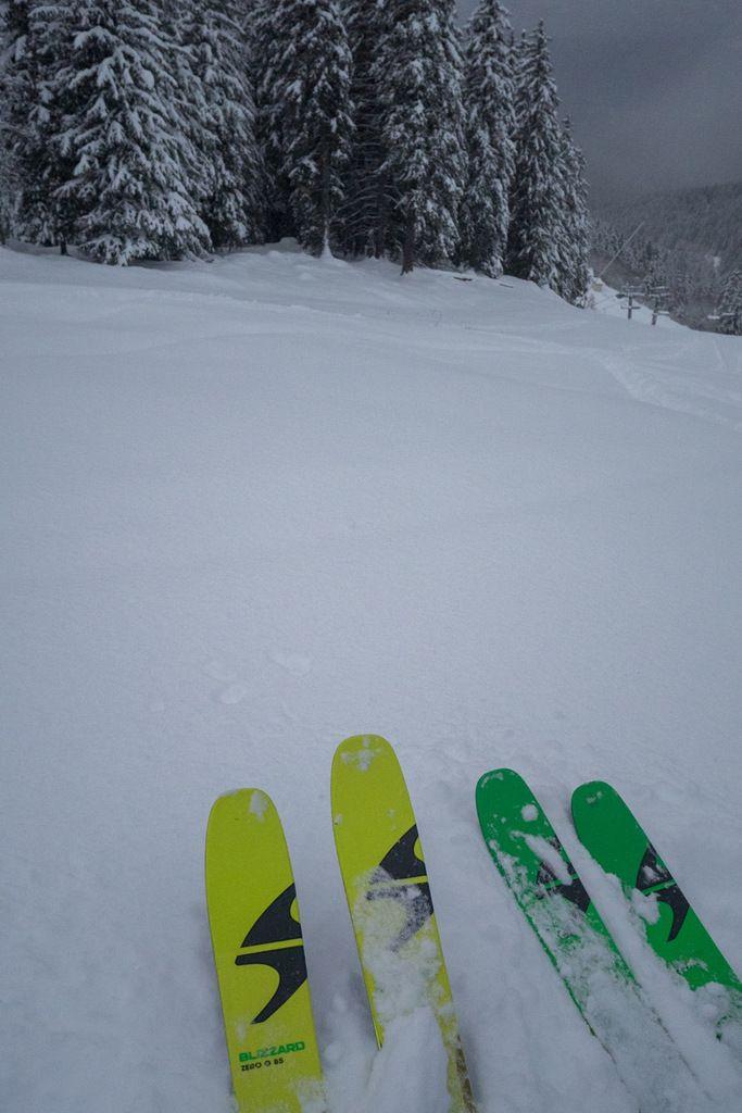 L'occasion de sortir les nouveaux skis Blizzard sans les abîmer : Zero G 85/95