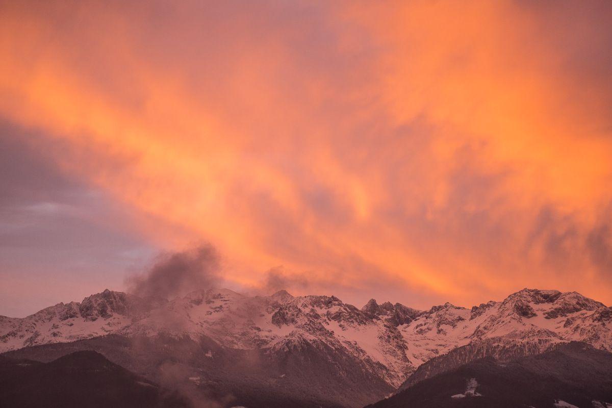 Ciel du matin sur Belledonne