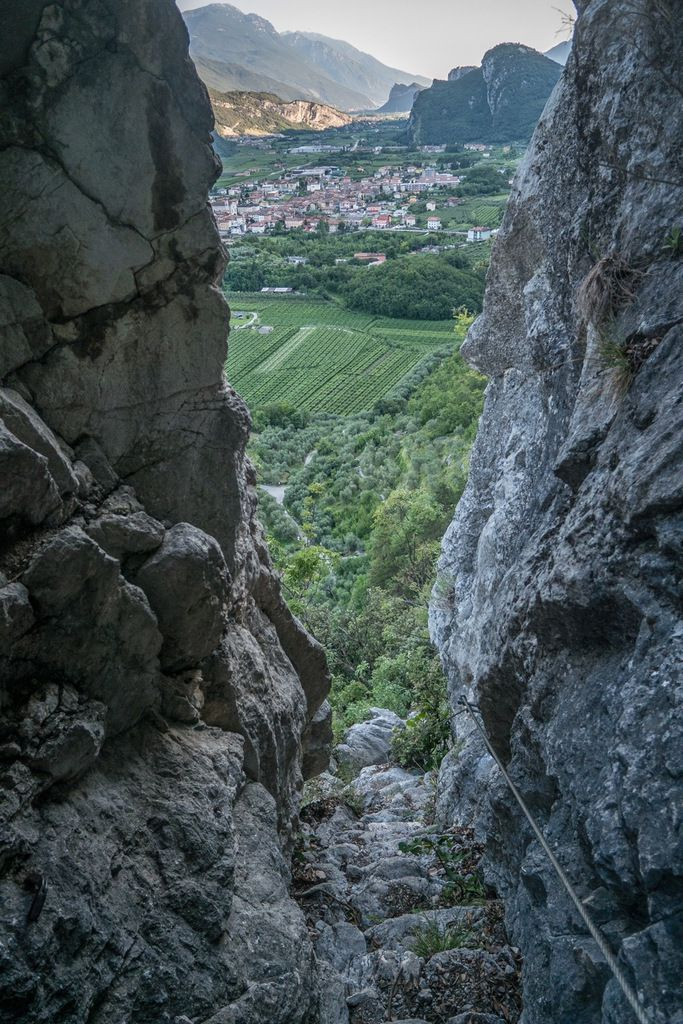 L'escalier de descente