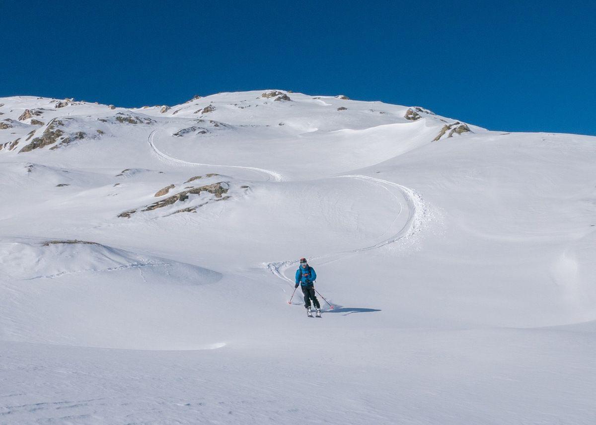 Troisième descente : du très bon ski en restant dans les creux