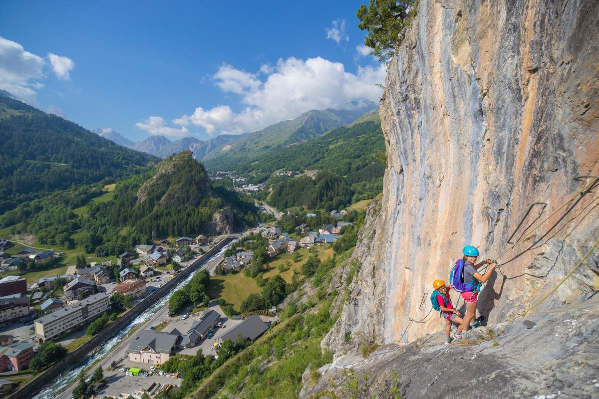 Le plus beau passage de la via ferrata
