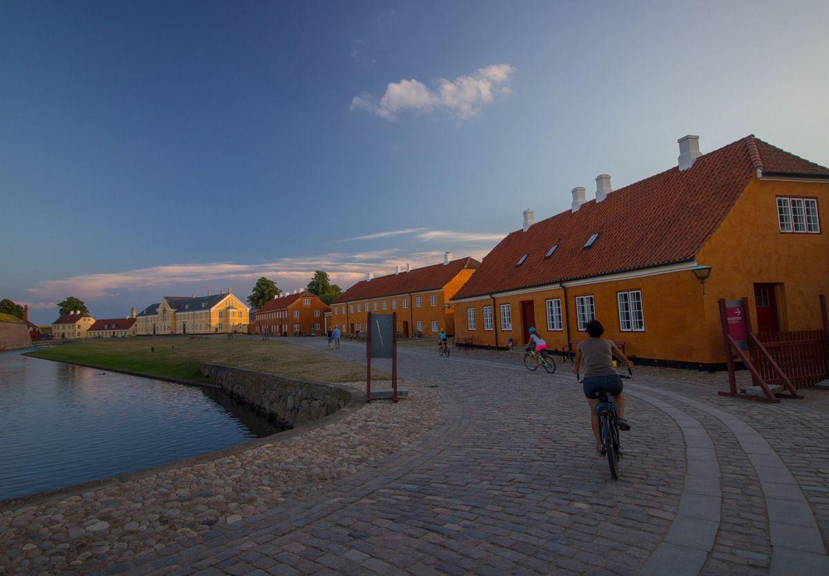 Helsingor, dans l'enceinte du château de Kronborg (Hamlet)
