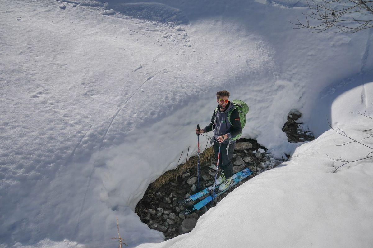 De bonnes quantités de neige vers 1400 m