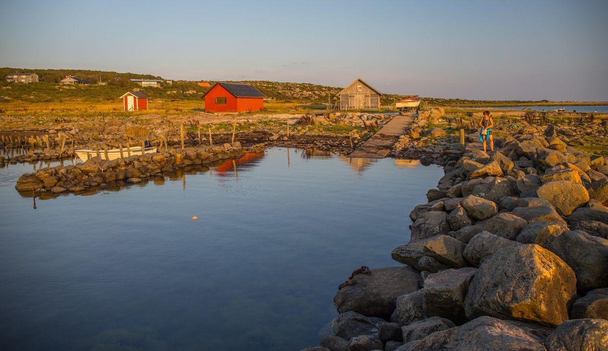 Suède : plage sauvage au sud de Göteborg