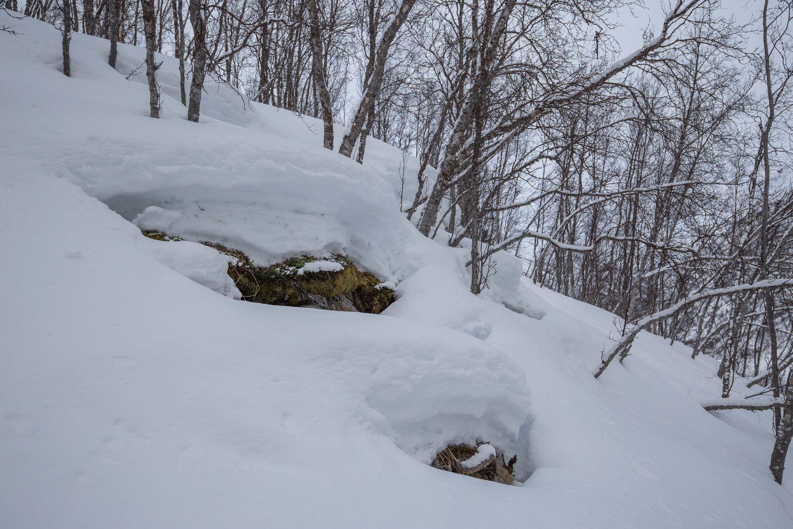 Le ski du matin versant est de la péninsule au départ de Furuflaten