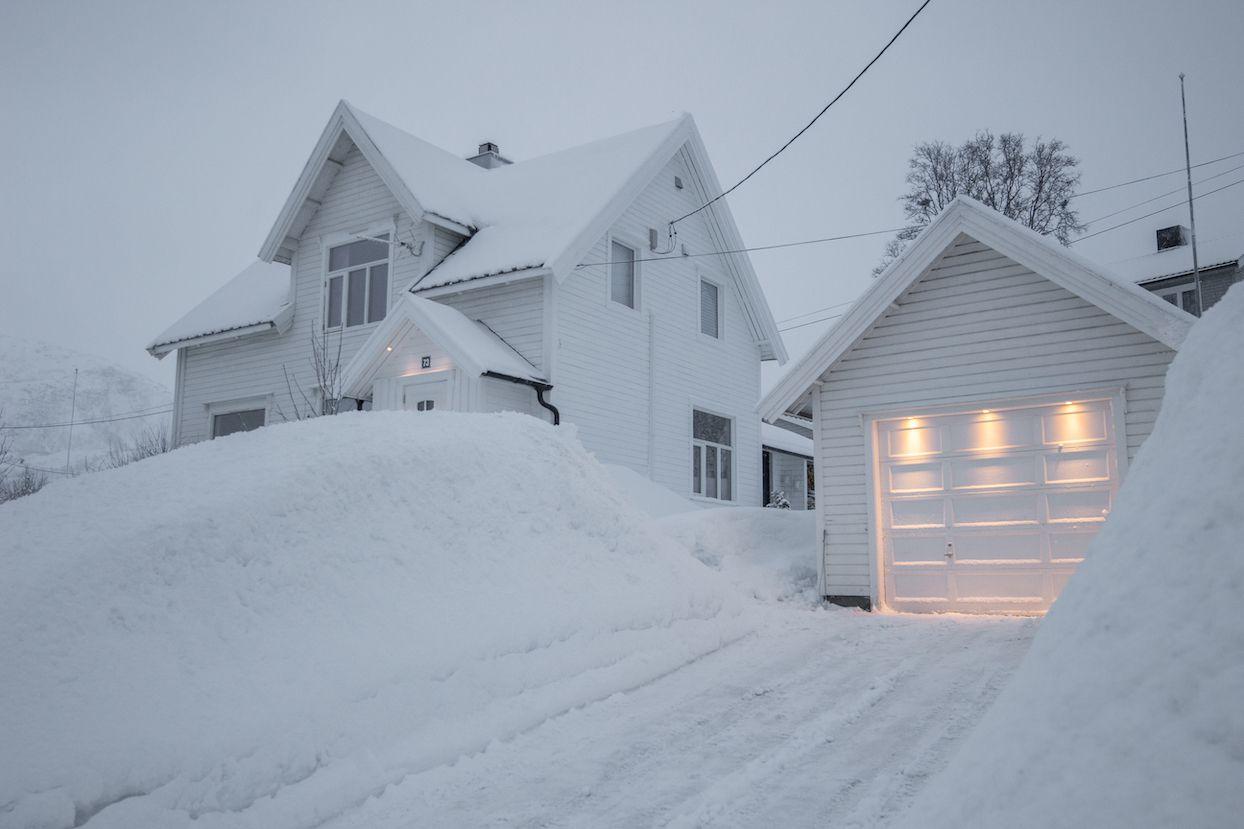 Grand blanc le matin à Skjervøy