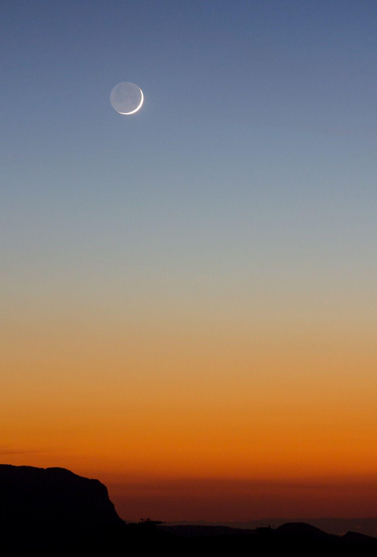 Croissant le Lune, Mercure, et même Vénus sur la première