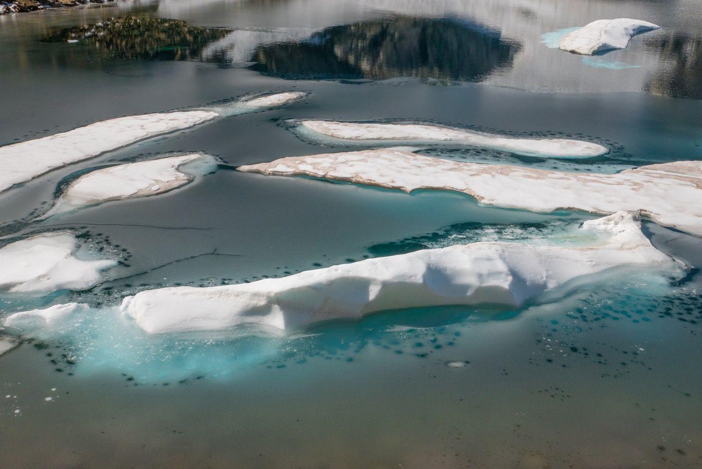 Le lac Glacé, à 2440 m d'altitude