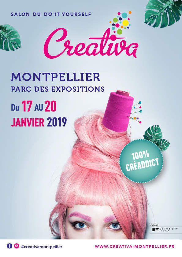 """Salon Créativa de Montpellier  le """"Vendredi 18 janvier 2019"""""""