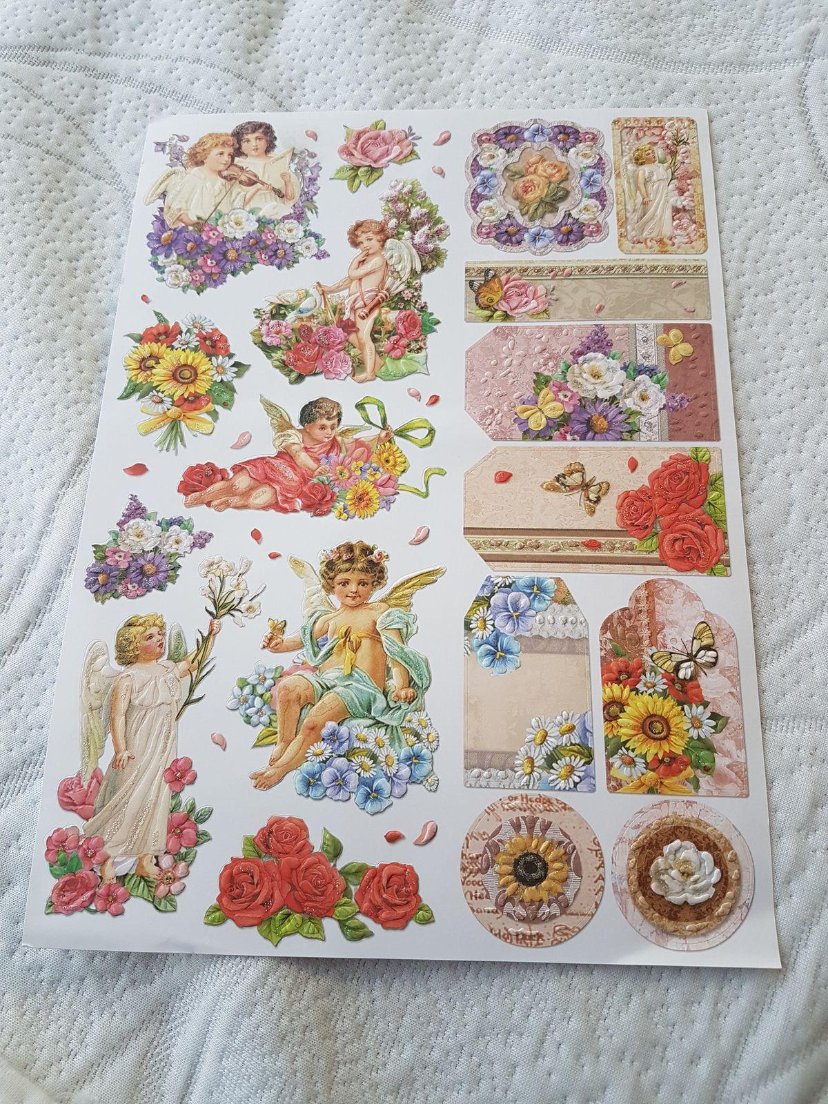 """Echange n°04 """"1 planche de stickers"""" - envoi/réception n°04"""