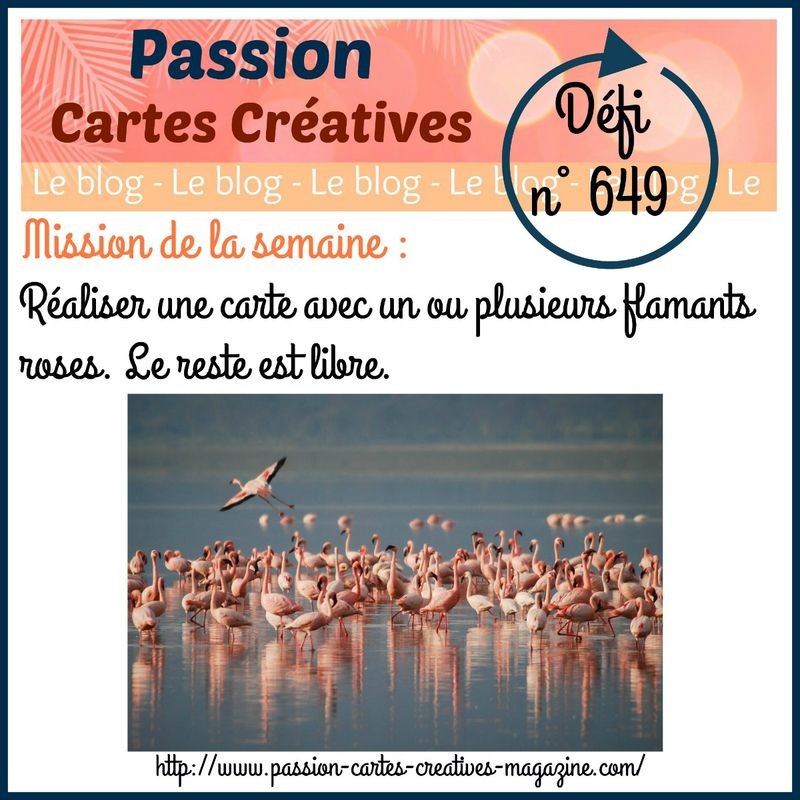 Défi n°649 sur le blog PASSION CARTES CREATIVES