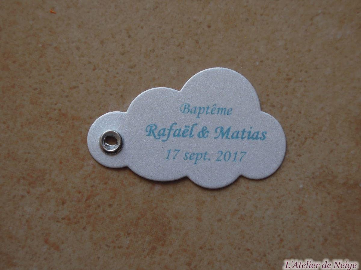 391 - Etiquettes Baptême Rafaël et Matias 17 sept. 2017