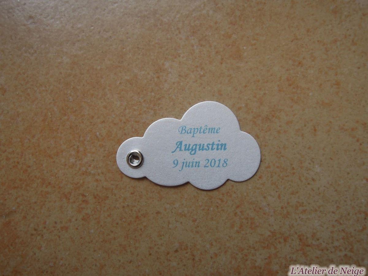 414 - Etiquette Baptême Augustin 9 juin 2018