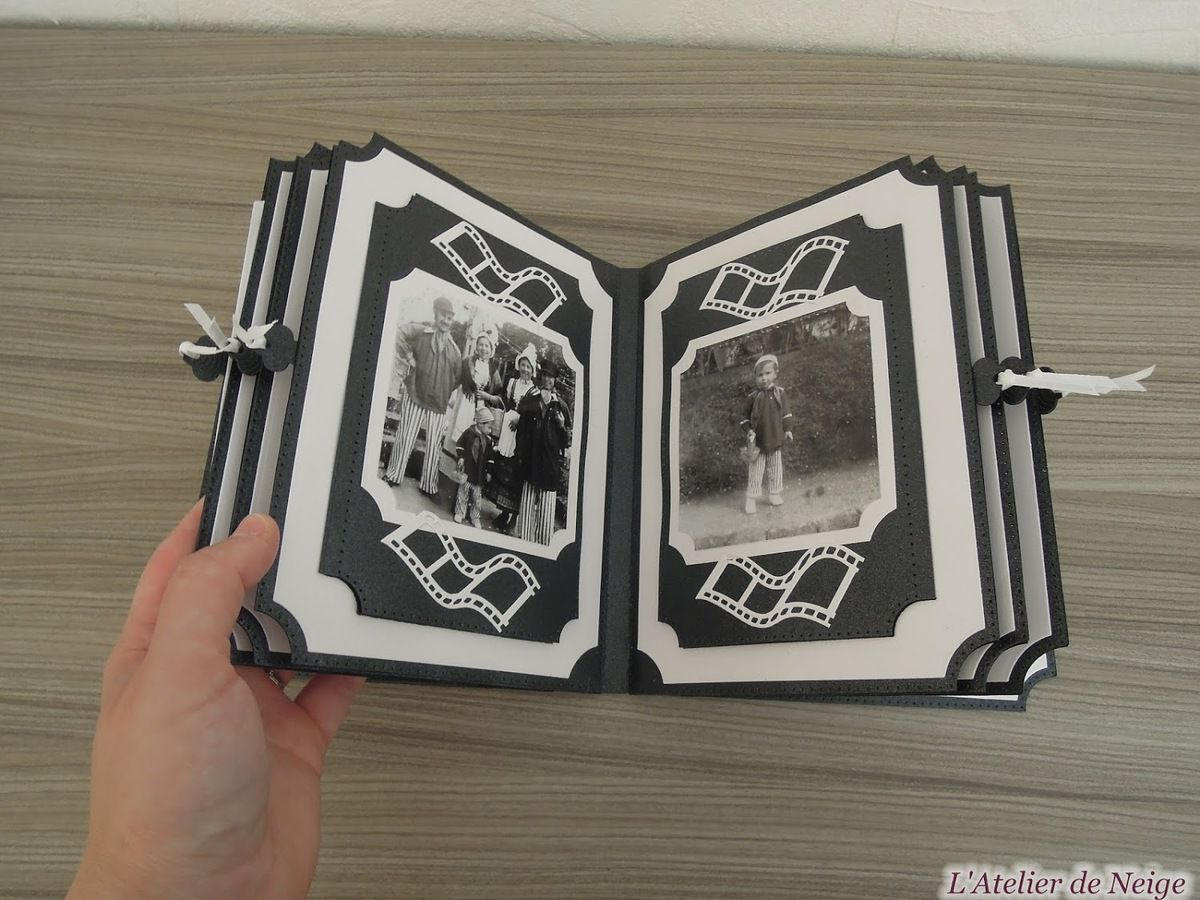 090 - Mini-Album Memories Noir et Blanc