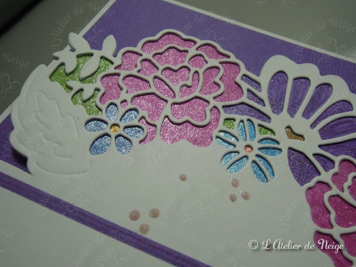 527 - Carte For You Rose et Violette