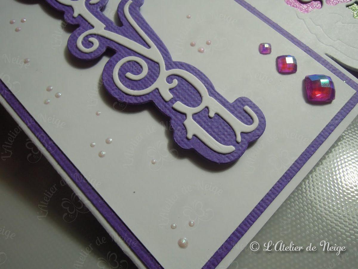 528 - Carte For You Rose et Violette