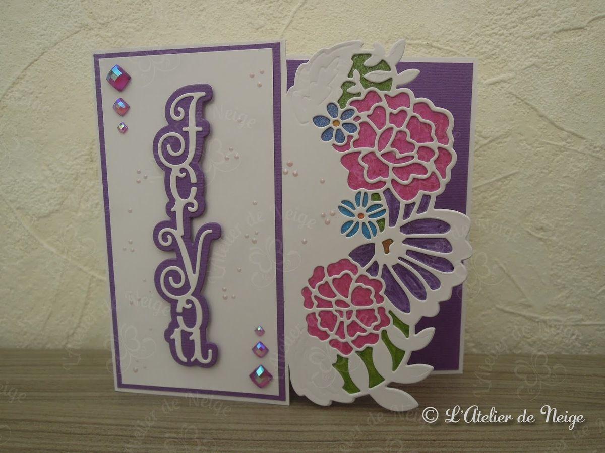 523 - Carte For You Rose et Violette