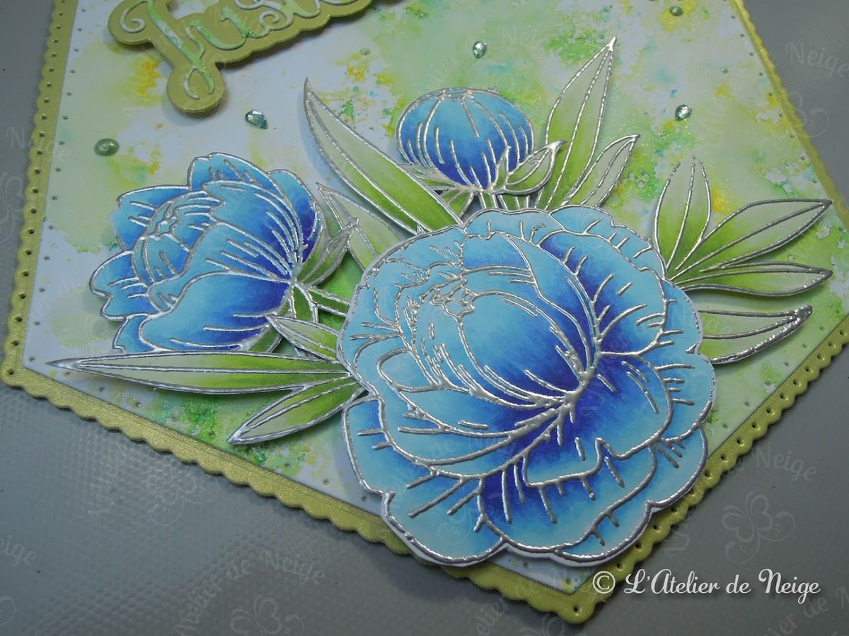 531 - Carte Just For You Fleurs Bleues