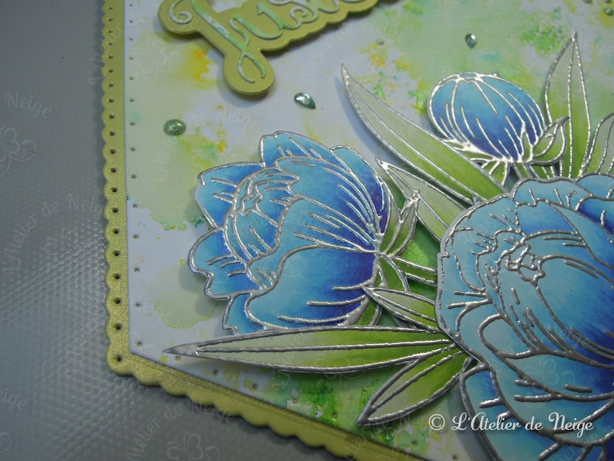 533 - Carte Just For You Fleurs Bleues