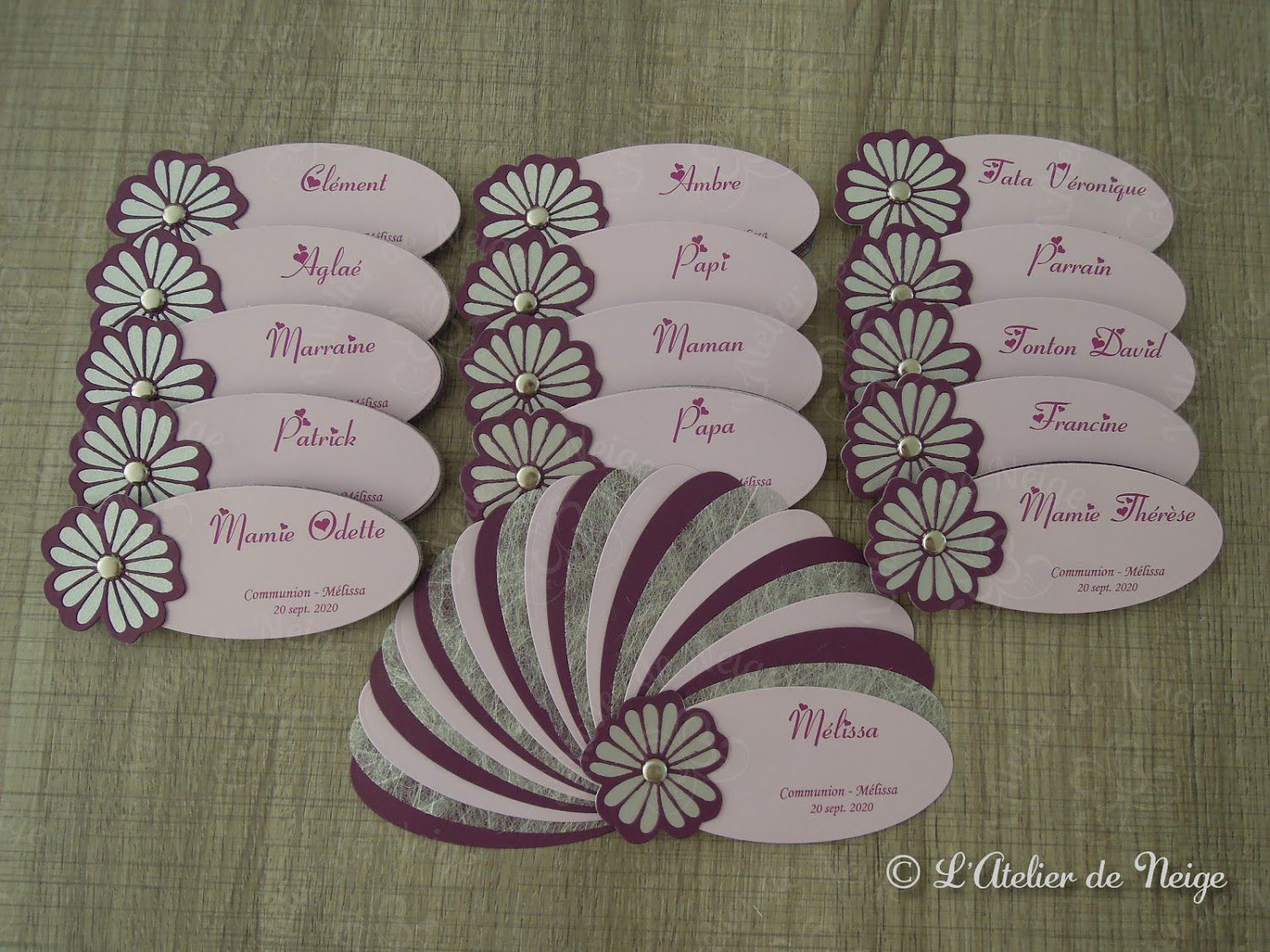 603 - Menus Communion Mélissa 20 sept. 2020