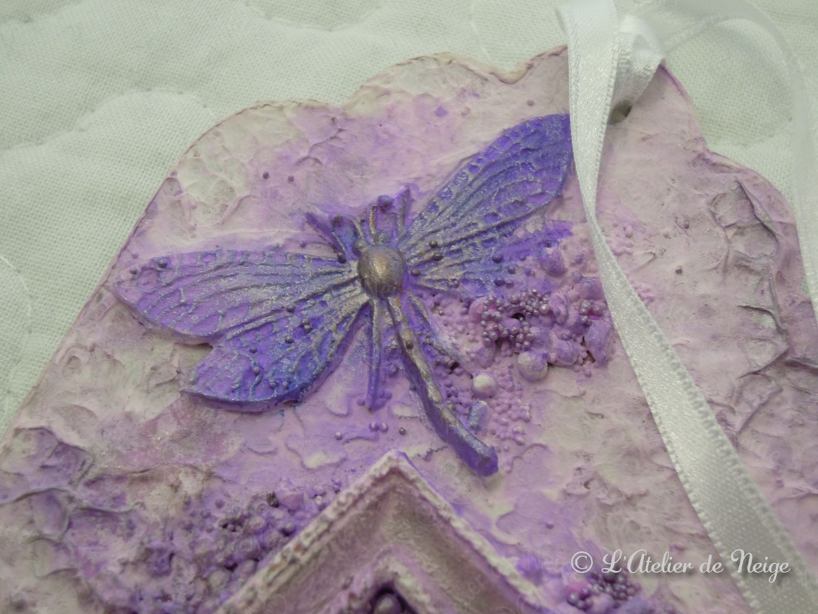 455 - Tag Violet Aquarelle