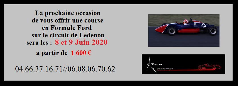 location monoplace formule Ford  Ledenon