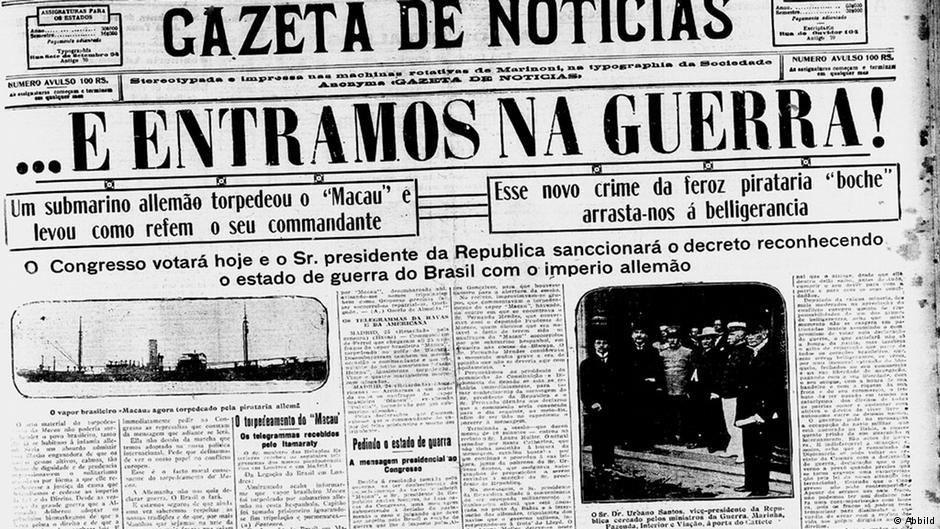Brésil-Allemagne : Il y a un siècle le Brésil rentrait en guerre contre le Reich Allemand