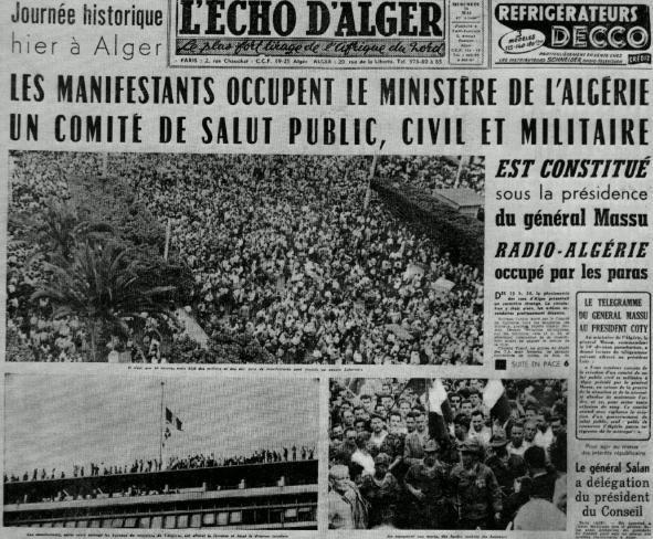 13 mai 1958 à Alger : Il y a 60 ans de Gaulle trahissait la France