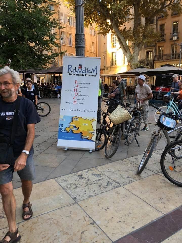 Aix en Provence : belle manifestation en faveur du vélo !