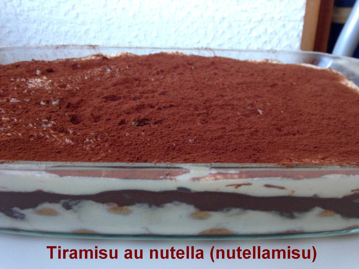 tiramisu au nutella nutellamisu gateauxandco. Black Bedroom Furniture Sets. Home Design Ideas