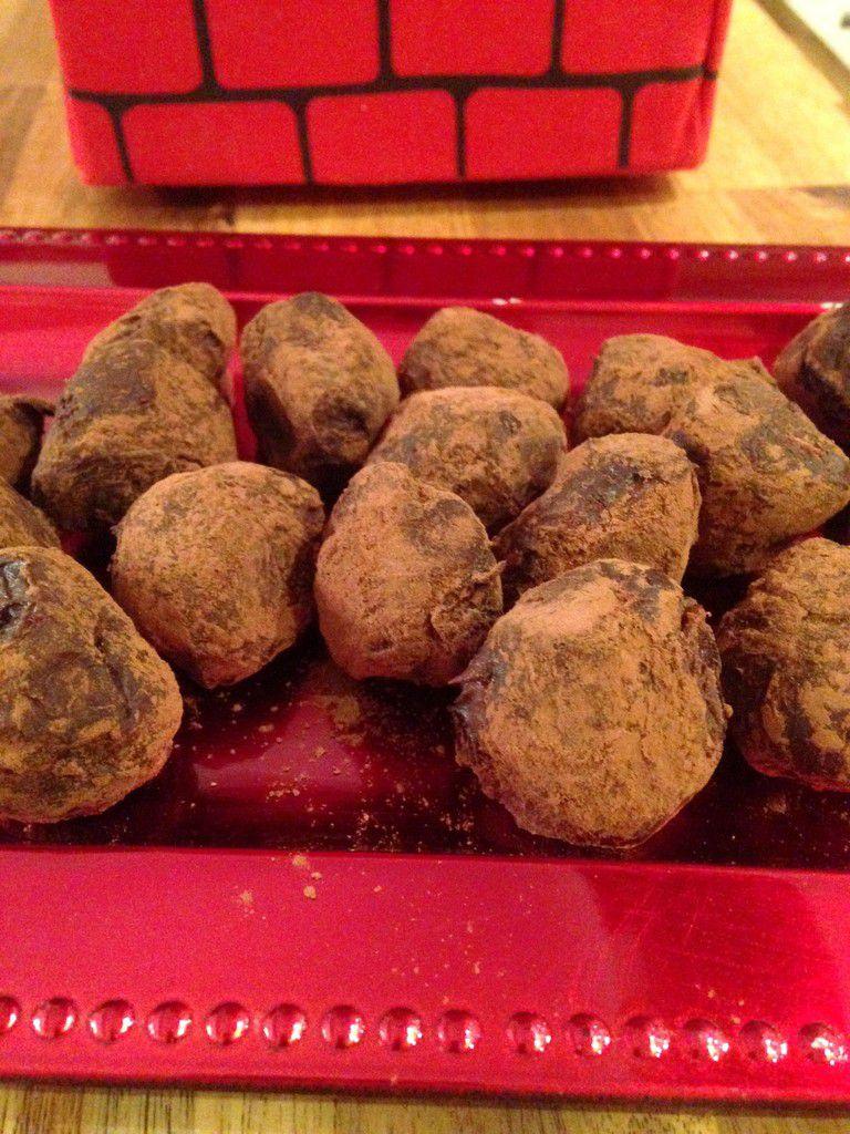 Truffes au chocolat et au nutella