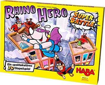 Rhino Hero (super battle), jeu Haba. [Test et avis]