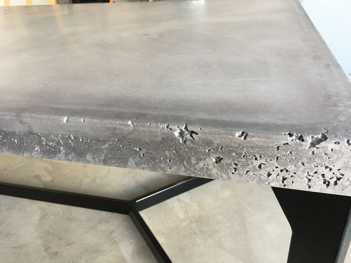 table béton brut