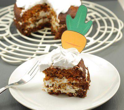 """NUEVA ENTREGA PARA EL RETO RECETAS VEGANAS PARA TOD@S: CARROT CAKE VEGANO & SIN GLUTEN (CON """"HUEVOS"""" VEGANOS) CON FROSTING DE NATA DE COCO"""