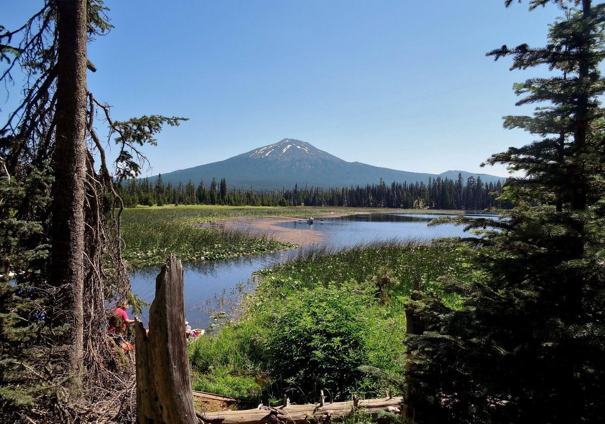 Elk Lake et Mount Bachelor