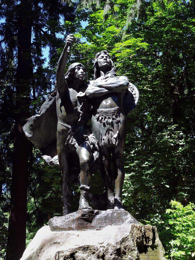 Portland Washington park The coming of the White Man