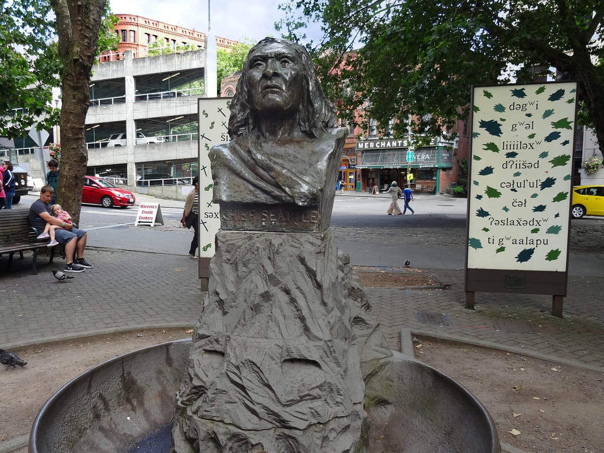 Seattle Pioneer Square Chief Seattle