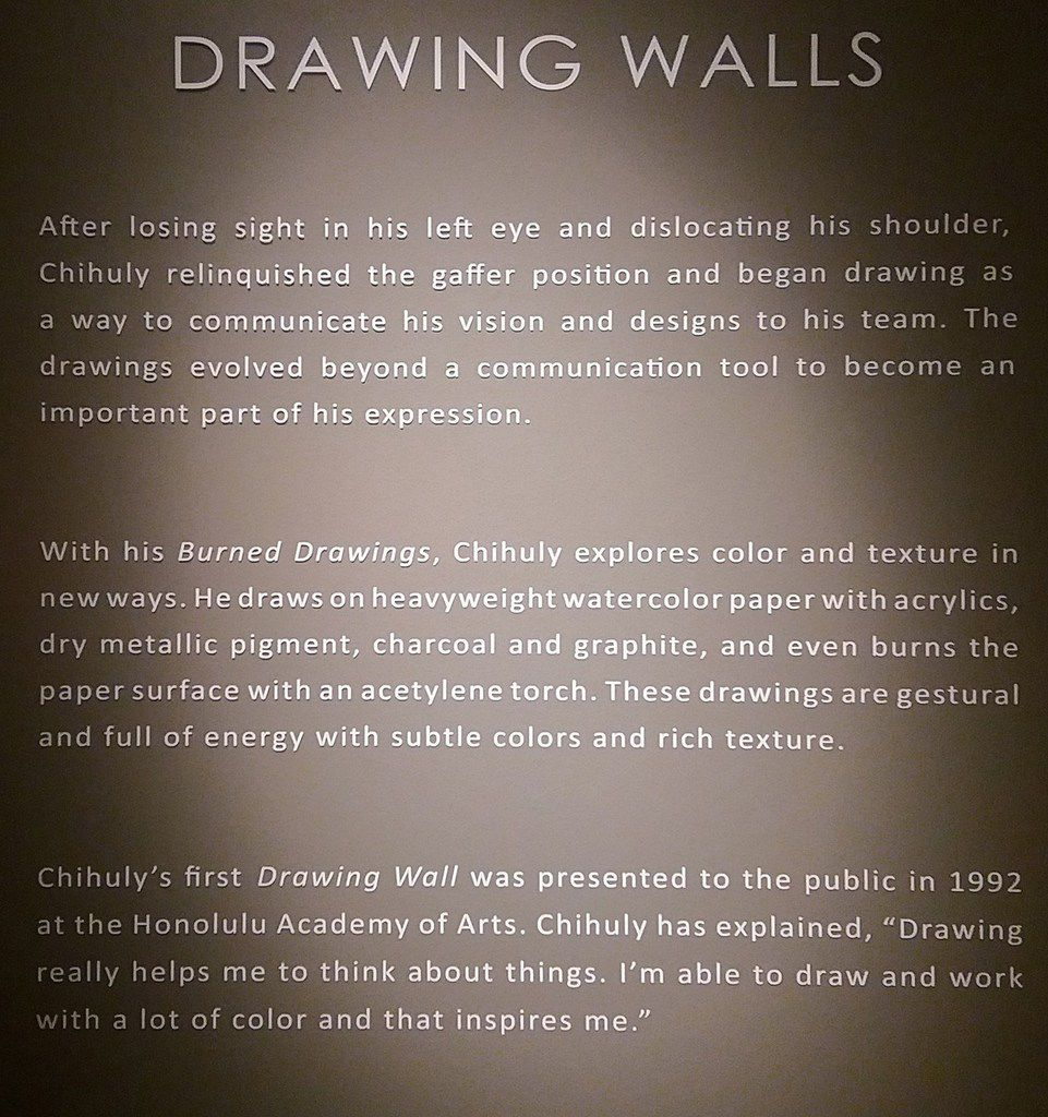 Seattle Chihuly Garden and Glass Drawing Walls panneau