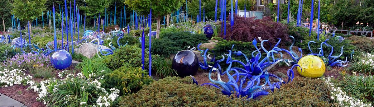 Seattle Chihuly Garden and Glass jardin pano