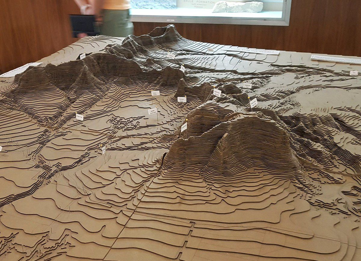 Scotts Bluff maquette