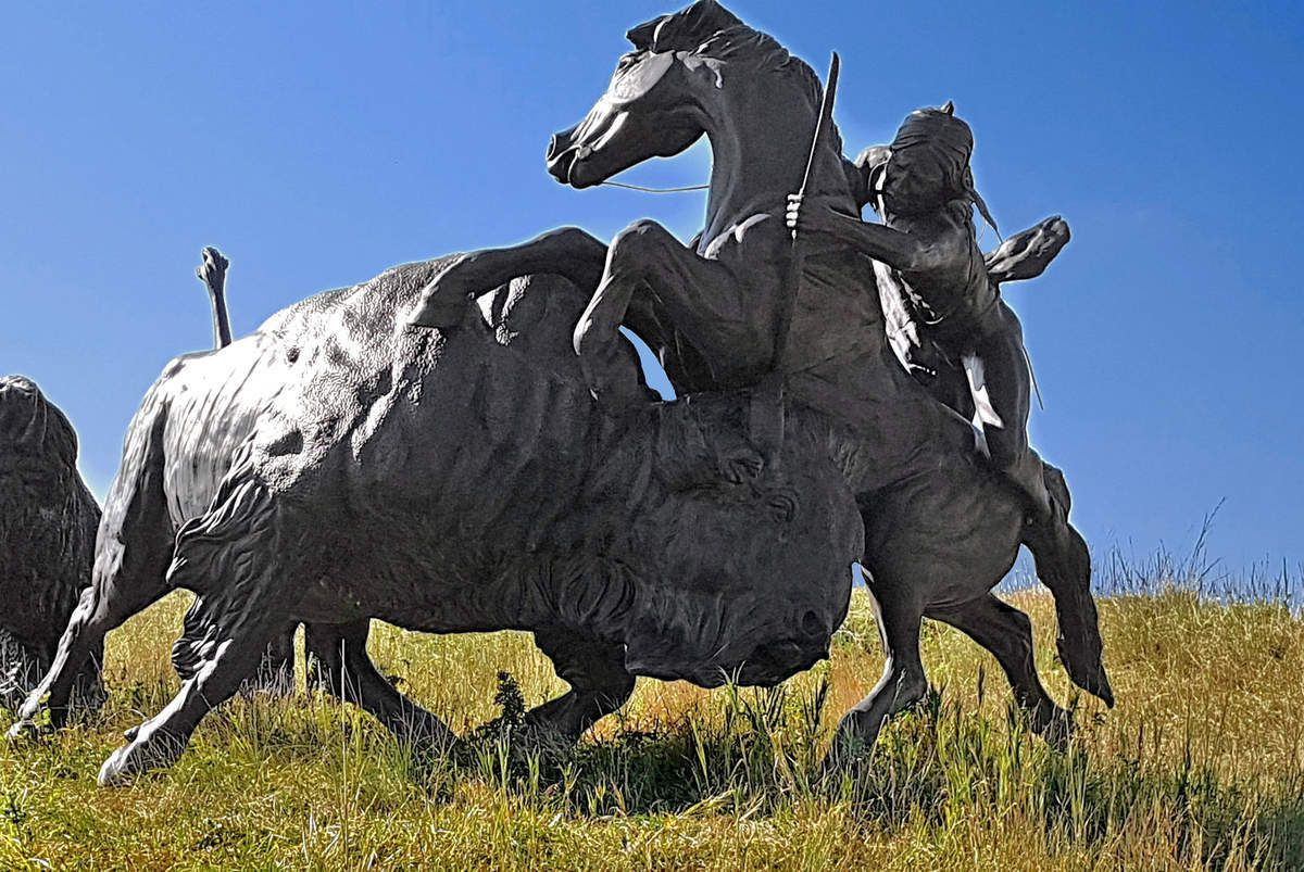 Tatanka Story of The Bison sculpture