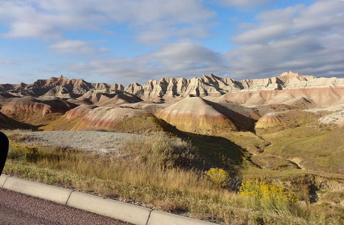 Badlands Yellow Mounds