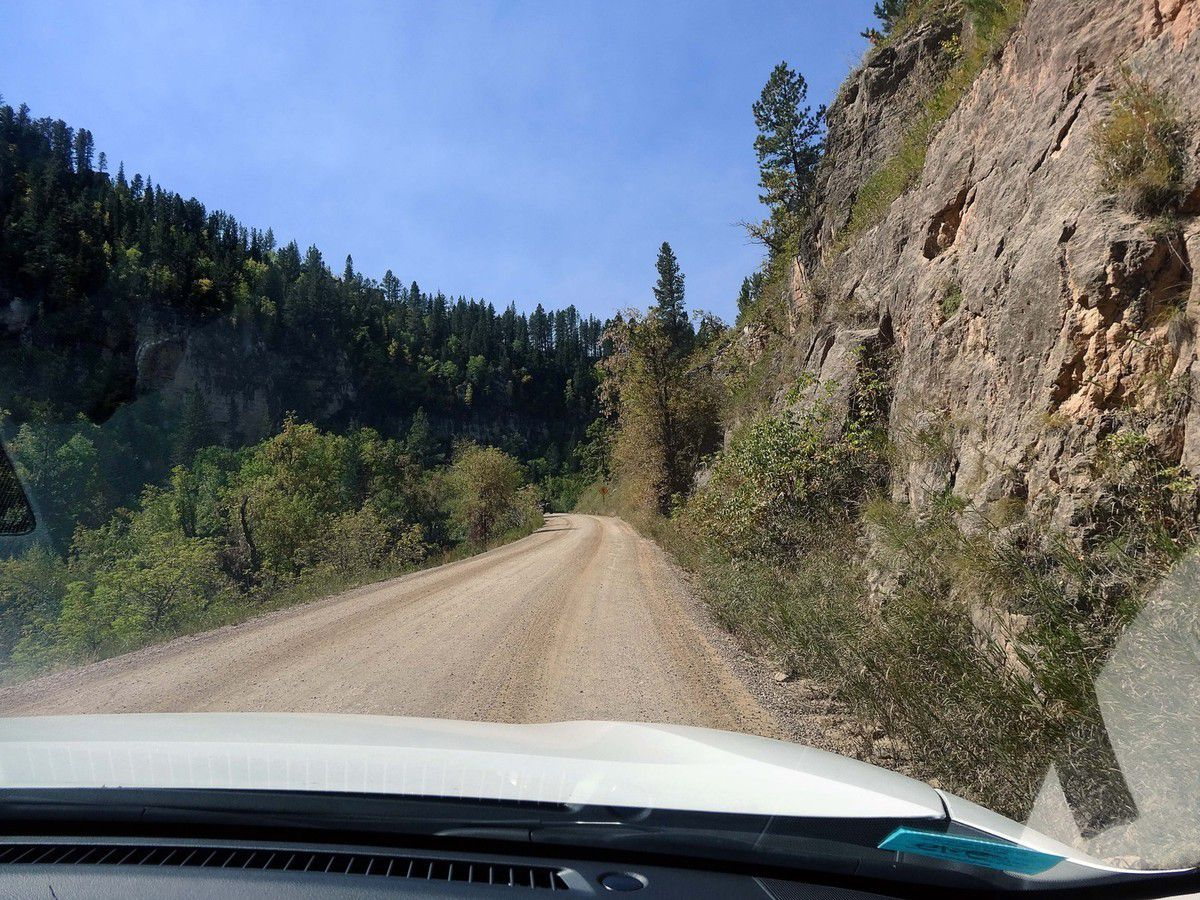 Spearfish Canyon unpaved road 222