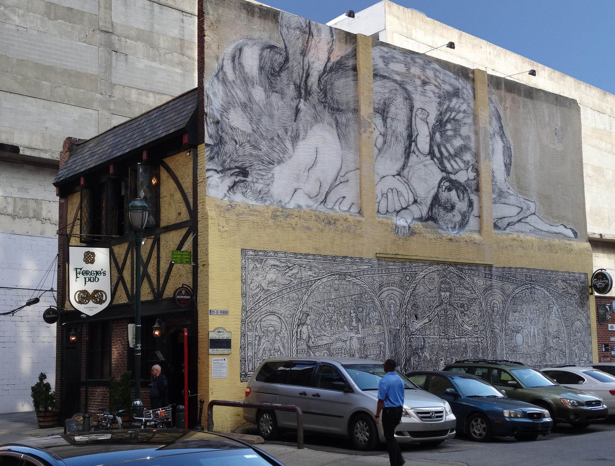 Philadelphie The Fawn mural